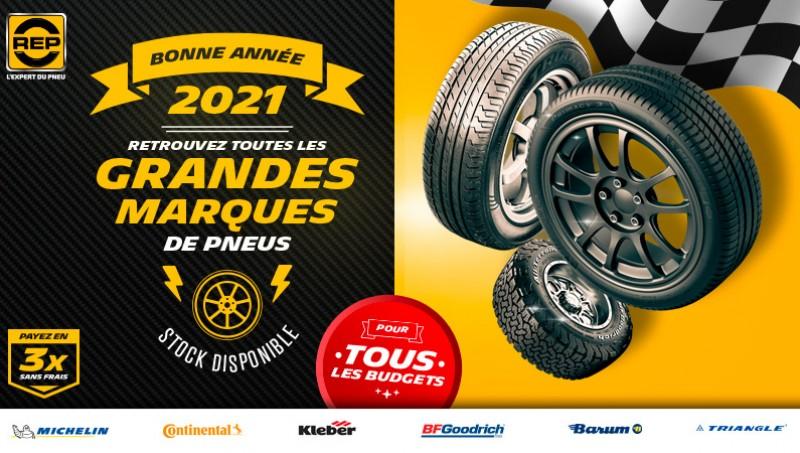 Toutes les grandes marques de pneus